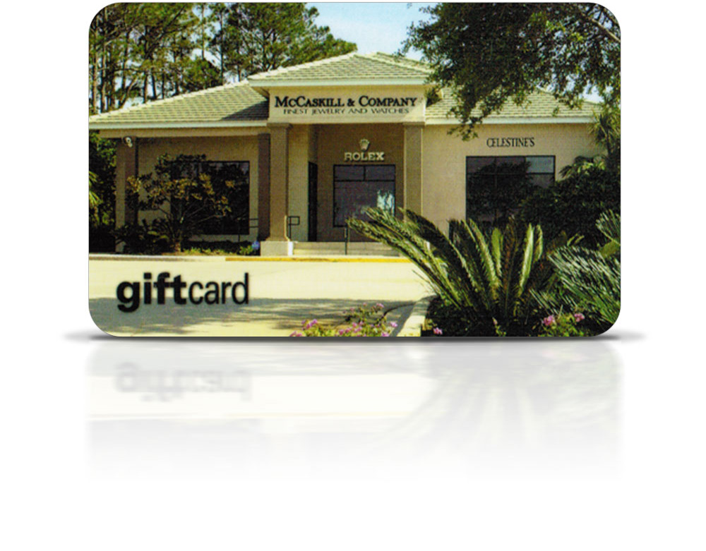 Gift Certificates and Giftcards available at McCaskill & Company Jewelers - Destin, FL