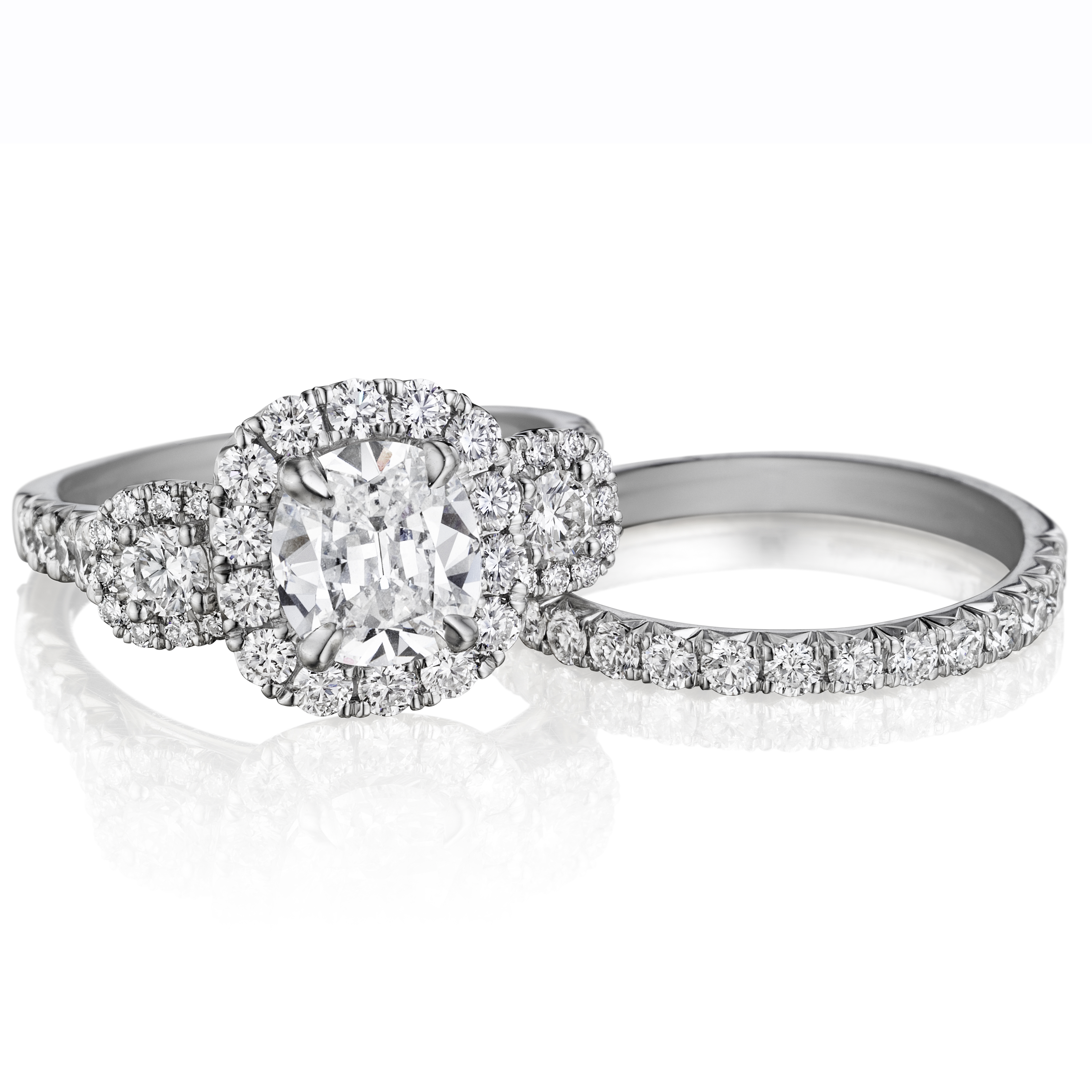 Bridal Henri Daussi Diamond Engagement Rings and Wedding Bands