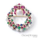 Oscar Heyman wreath brooch