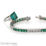 Emerald Ring and Line Bracelet
